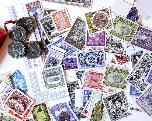 coins and stamps